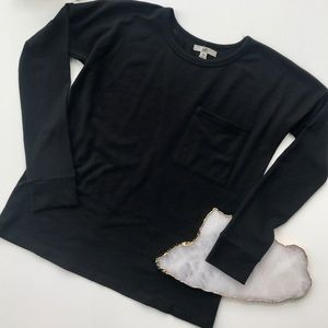 YA Los Angeles black split back sweater